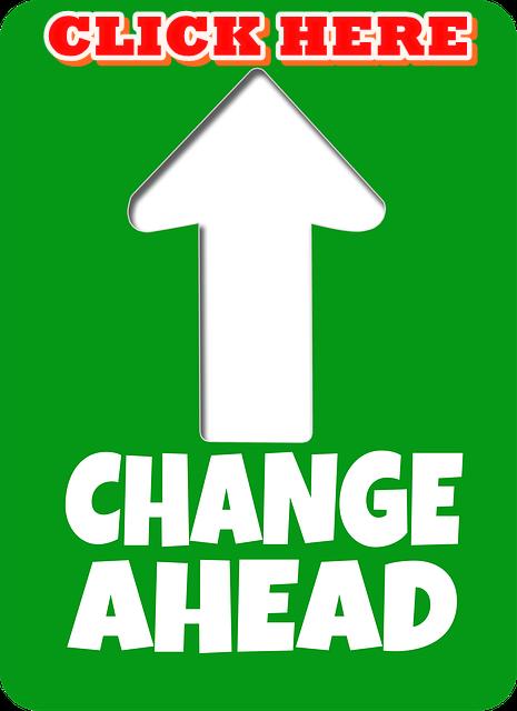 arrow change ahead Click